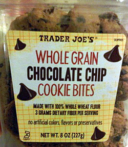 Trader Joe's Whole Grain Chocolate Chip Cookie Bites