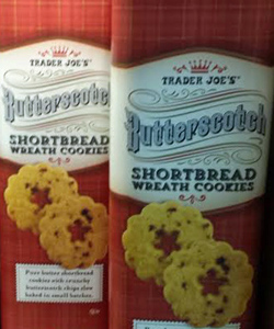 Trader Joe's Butterscotch Shortbread Wreath Cookies