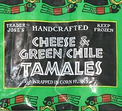 Trader Joe's Cheese & Green Chile Tamales