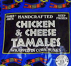 Trader Joe's Chicken & Cheese Tamales