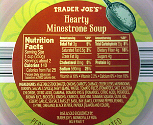Trader Joe's Minestrone Soup