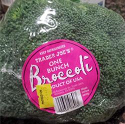 Trader Joe's One Bunch Broccoli
