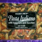 Trader Joe's Pasta Italiano with Eggplant & Zucchini