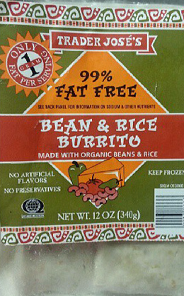 Trader Joe's Bean & Rice Burrito