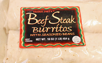 Trader Joe's Beef Steak Burritos