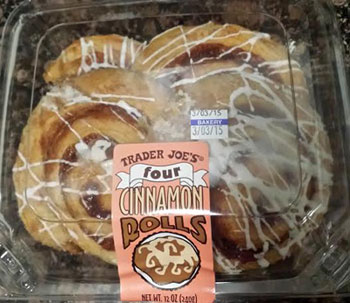 Trader Joe's Four Cinnamon Rolls