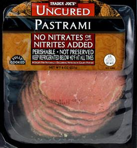 Trader Joe's Uncured Sliced Pastrami