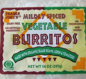 Trader Joe's Vegetable Burritos