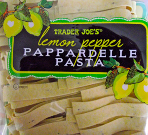 Trader Joe's Lemon Pepper Pappardelle Pasta
