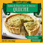 Trader Joe's Spinach Mushroom & Cheese Quiche