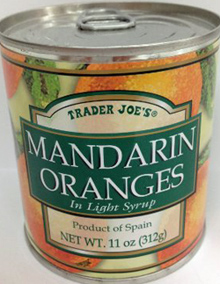 Trader Joe's Canned Mandarin Oranges
