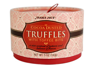 Trader Joe's Cocoa Dusted Truffles with Toffee Bits
