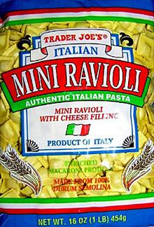 Trader Joe's Italian Mini Ravioli