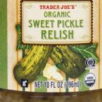 Trader Joe's Organic Sweet Pickle Relish