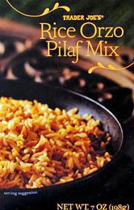 Trader Joe's Rice Orzo Pilaf Mix