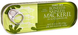 Trader Joe's Boneless Skinless Mackerel in Sunflower Oil