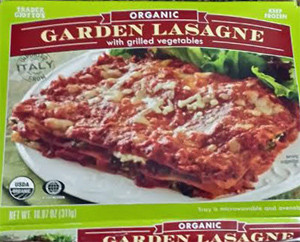 Trader Joe's Organic Garden Lasagne