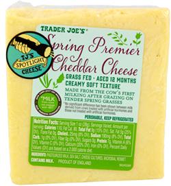 Trader Joe's Spring Premier Cheddar Cheese