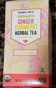 Trader Joe's Organic Ginger Turmeric Herbal Tea