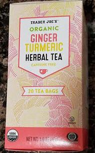 Trader Joe's Organic Ginger Turmeric Herbal Tea Reviews - Trader