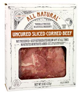 Trader Joe's Uncured Sliced Corned Beef