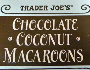 Trader Joe's Chocolate Coconut Macaroons