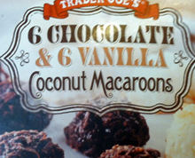 Trader Joe's 6 Chocolate & 6 Vanilla Coconut Macaroons