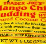 Trader Joe's Mango Chia Pudding with Cultured Coconut Cream