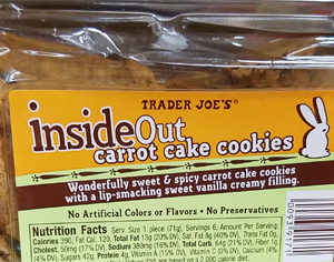 Trader Joe's Inside Out Carrot Cake Cookies Reviews ...