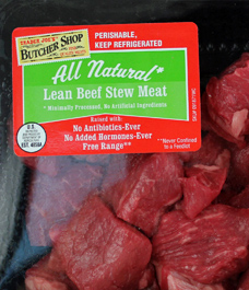 Trader Joe's All Natural Lean Beef Stew Meat