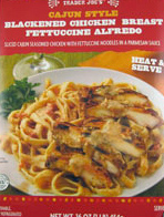 Trader Joe's Cajun Blackened Chicken Fettucine Alfredo