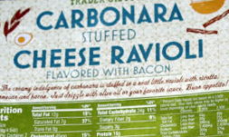 Trader Joe's Carbonara Stuffed Cheese Ravioli Flavored with Bacon