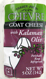 Trader Joe's Chevre Goat Cheese with Kalamata Olives