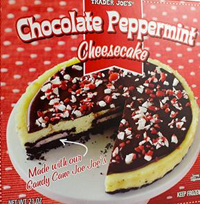 Trader Joe's Chocolate Peppermint Cheesecake