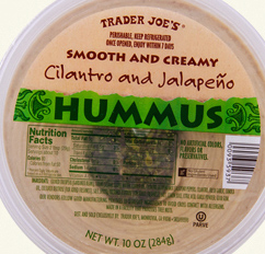 Trader Joe's Cilantro and Jalapeno Hummus