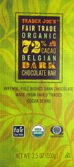Trader Joe's Fair Trade Organic Belgian Dark Chocolate Bar