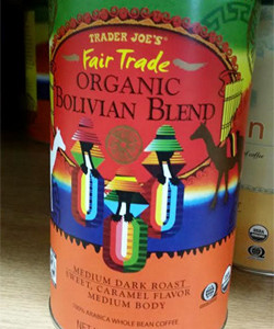 Trader Joe's Fair Trade Organic Bolivian Blend Coffee