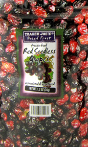 Trader Joe's Freeze Dried Red Seedless Grapes