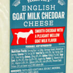 Trader Joe's English Goat Milk Cheddar Cheese