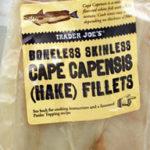 Trader Joe's Boneless Skinless Cape Capensis Hake Fillets
