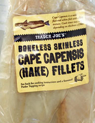 Trader Joe's Boneless Skinless Cape Capensis Hake Fillets