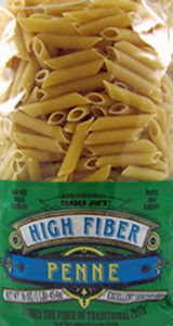 Trader Joe's High Fiber Penne Pasta