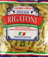 Trader Joe's Italian Rigatoni Pasta
