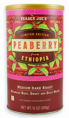 Trader Joe's Peaberry Coffee from Ethiopia