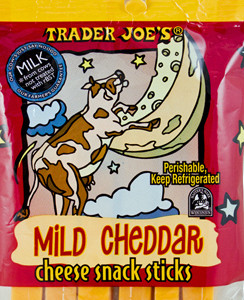 Trader Joe's Mild Cheddar Cheese Snack Sticks