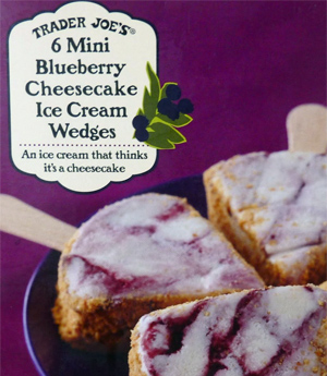 Trader Joe's Blueberry Cheesecake Ice Cream Wedges
