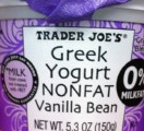 Trader Joe's Nonfat Vanilla Bean Greek Yogurt