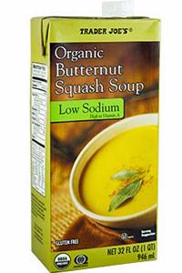 Trader Joe's Organic Low Sodium Butternut Squash Soup