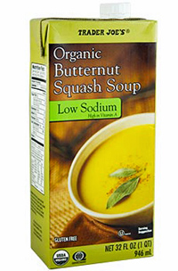 Trader Joe's Organic Low Sodium Butternut Squash Soup