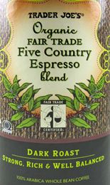 Trader Joe's Organic Fair Trade Five Country Espresso Blend